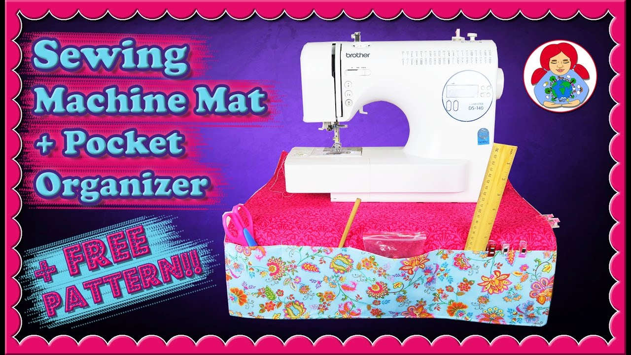 Diy Sewing Machine Mat Pad Organizer With Pockets