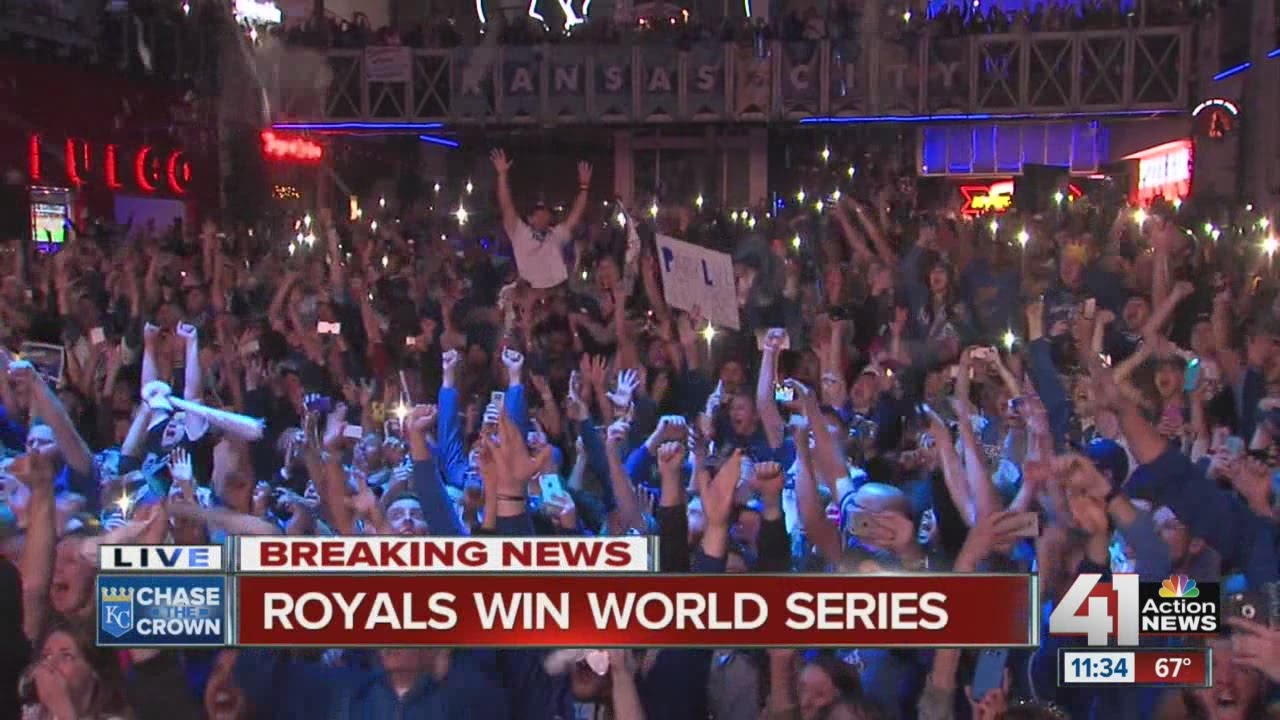The moment the Royals won the World Series at Power & Light