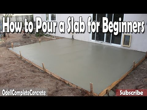 Thumbnail: How to Pour a Concrete Slab for Beginners DIY