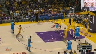 NBA 2K14 - New York Knicks vs. Los Angeles Lakers HD Gameplay | Livestream of @Ronnie2K vs @Ld2k