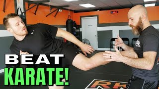 How to Beat a Karate Guy in Sparring feat. Sensei Seth | Footwork and Strategy to Deal with Kicks