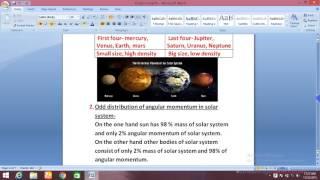 ORIGIN OF SOLAR SYSTEM FOR IAS