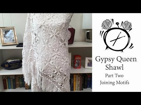 Tutorial: Queen Gypsy Shawl Part Two - Joining Motifs thumbnail