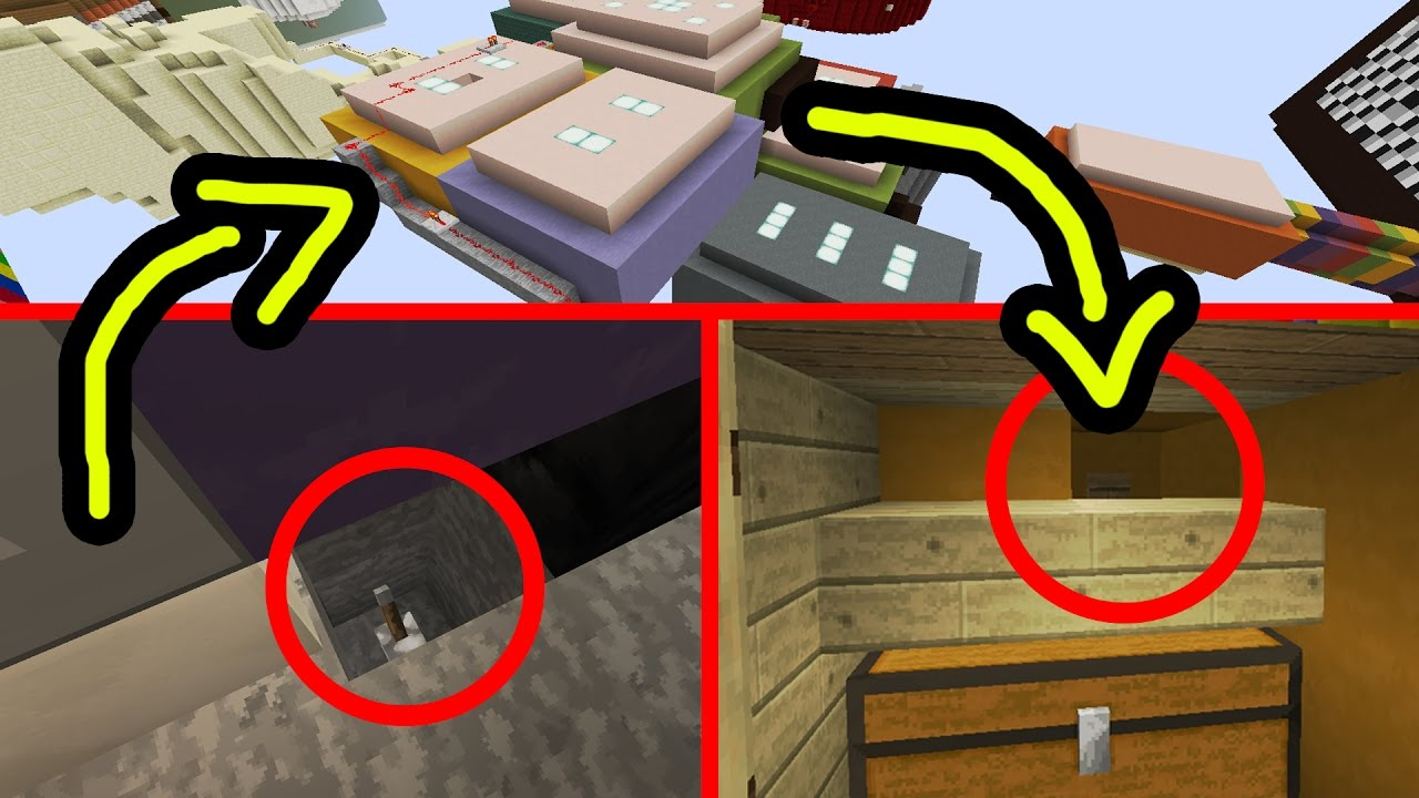 DIE SCHWERSTE FIND THE BUTTON MAP In MINECRAFT YouTube - Minecraft geheime hauser