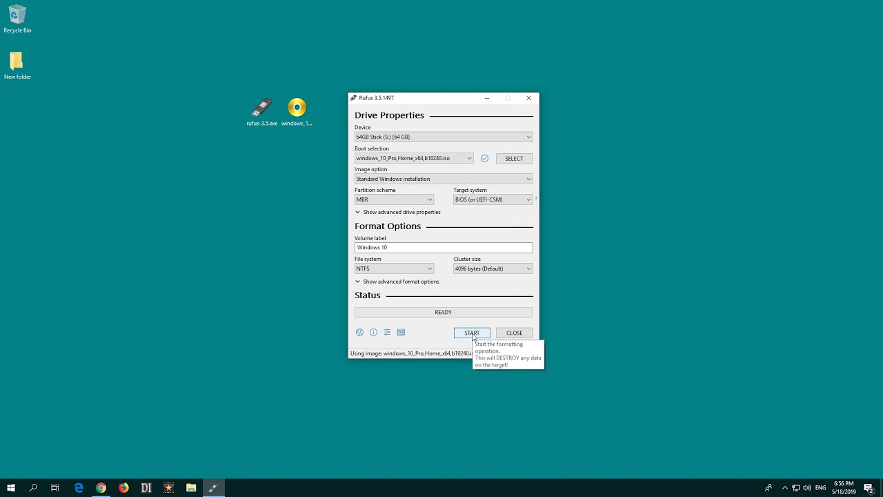 How to create a Botable USB Flash Drive (Rufus + Windows 10)