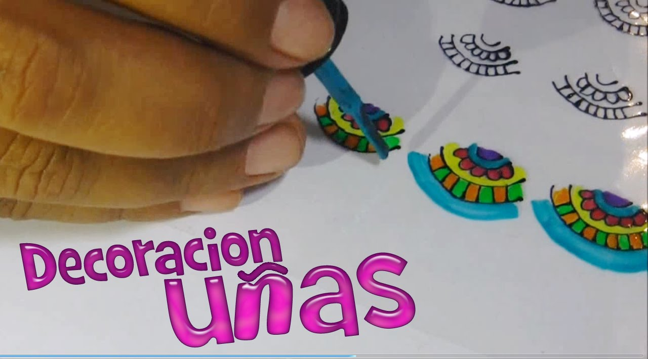 Como decorar u as con mandalas facil y coloridas usando for Unas facil de decorar en casa