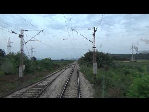 Train Driver's view: railroad in Serbia from Jagodina to Cuprija 1/3 - SERBIAN RAILWAYS