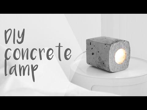 DIY Concrete Block Lamp // Rachel Aust