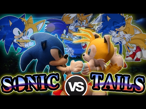 ABM: Sonic Vs Tails!! SUPER SMASH BROS BATTLE!! HD