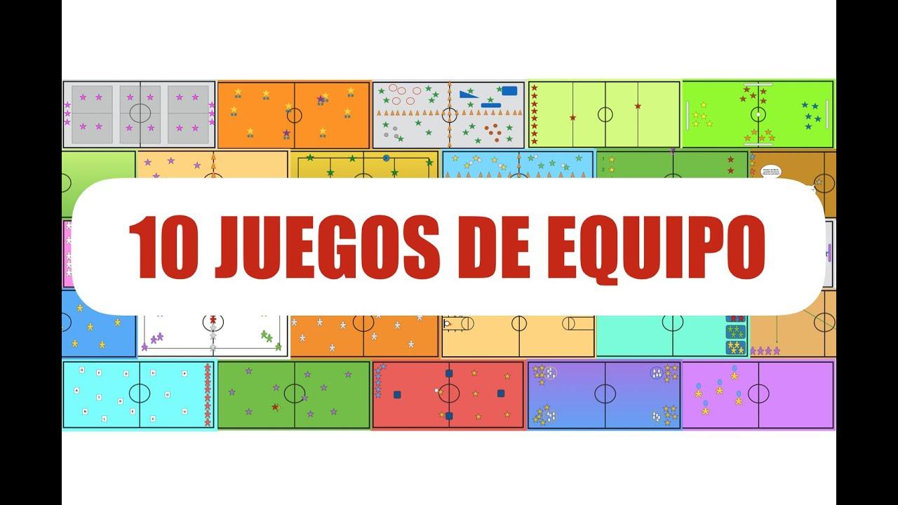 10 Juegos De Equipo Juegos Educacion Fisica Youtube