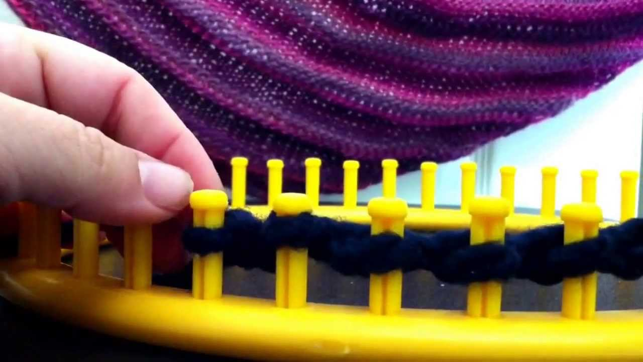 Loom Knit Boomerang Shawl Youtube