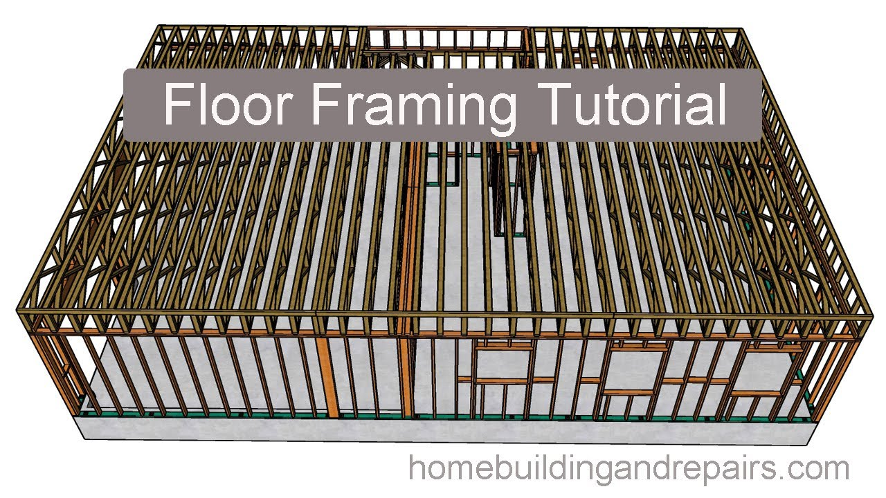 Two Story Open Floor Plan Floor Framing With 2 X 4 Engineered Trusses Youtube