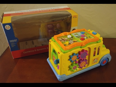 Geefia School Bus Toy- Intellectual Toy, Bump and Go, Music and ...