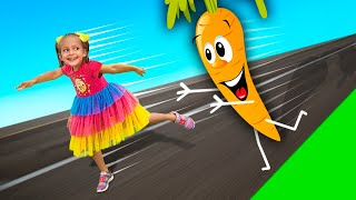 Funny food - Song for children with Maya and Mary