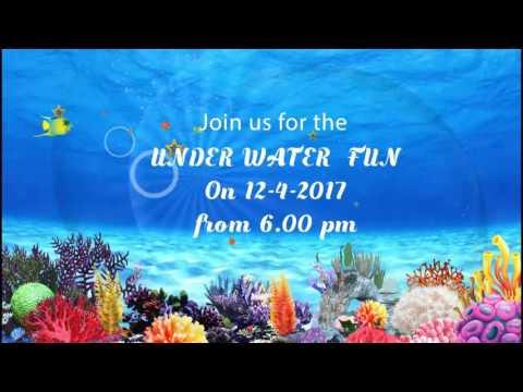UNDER WATER/ AQUA BIRTHDAY INVITATION VIDEO