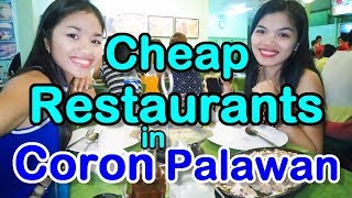 10 Cheap Restaurants for Backpackers Coron Palawan Philippines