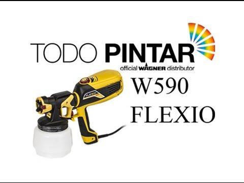 Wagner 590 Flexio - Tecnologia I-Spray y X-Boost para pintar sus paredes y mucho mas.