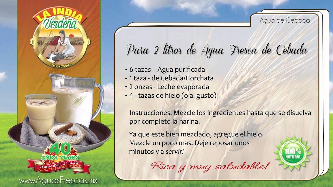 Como preparar agua de cebada para adelgazar