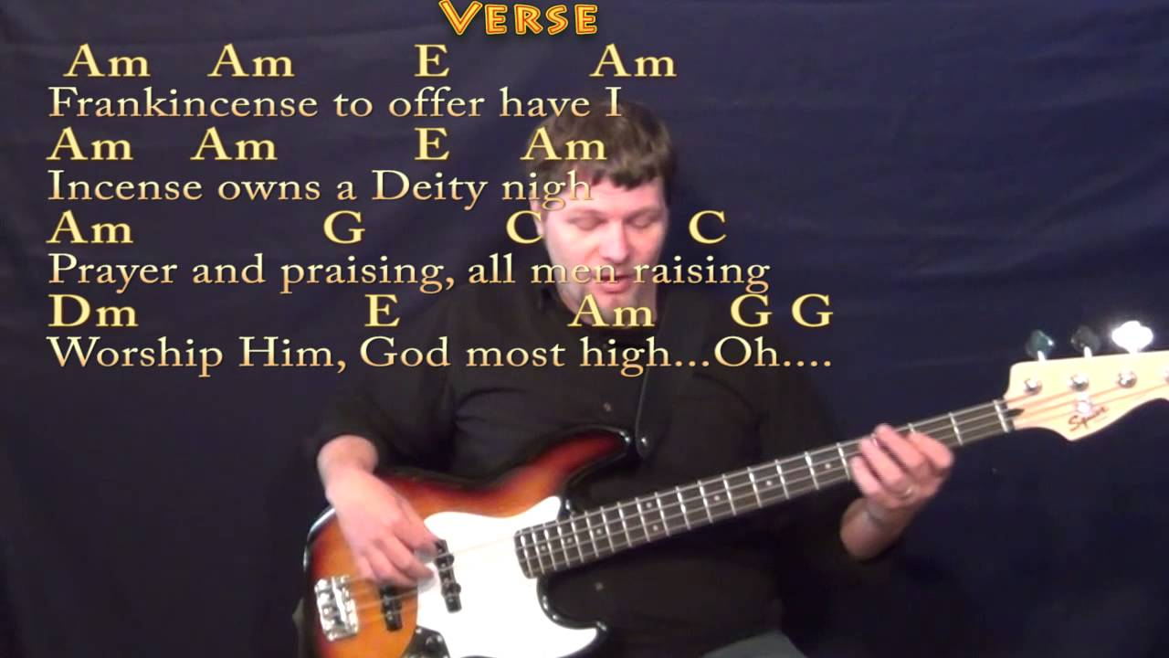 We Three Kings (Christmas) Bass Guitar Cover Lesson in Am with Chords/Lyrics - YouTube