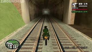 After killing the Vagos, what happens if CJ rides the train to the end - Wrong Side of the Tracks