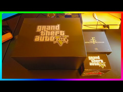 My GTA 5 Christmas Care Package From Rockstar Games Unboxing!