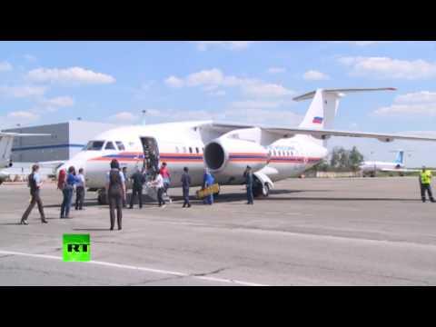 Спецборт МЧС доставил в Москву детей, спасенных в Карелии