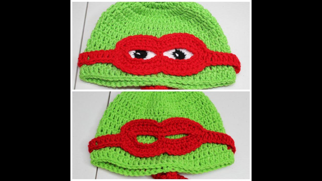 Como tejer un gorro de tortuga con mascara en #Crochet - video 1 ...