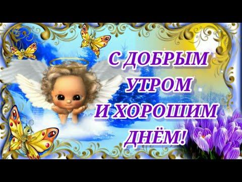 С Добрым Утром и Хорошим Днём! Пусть Ангел тебя охраняет! Дня Прекрасного Желаю! Красивое Пожелание!