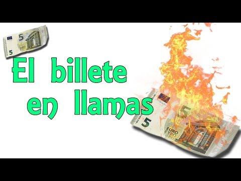 El billete en llamas que no se quema (Experimentos Caseros)