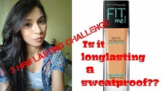 Maybelline fit me matte poreless foundation 230 natural buff#honest review with test