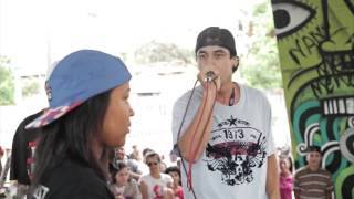 Duelo de MCs - Clara vs Crizin (Semifinal) Eliminatorias MG - Duelo de MCs Nacional 2015 - 08/11/15