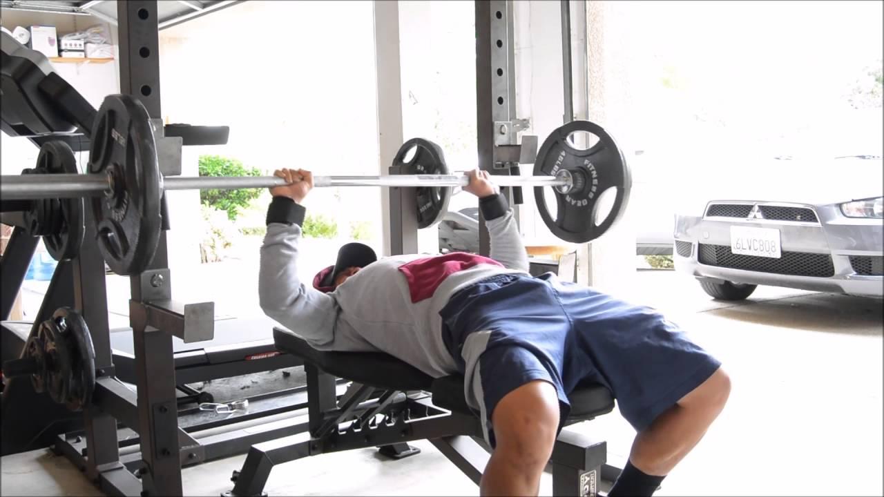 First video upper body garage gym workout youtube