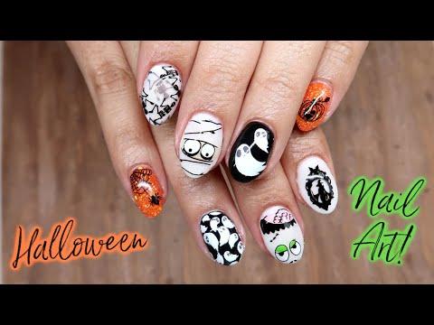 When Nail Stamping Goes Wrong... | Halloween Nail Art Tutorial thumbnail