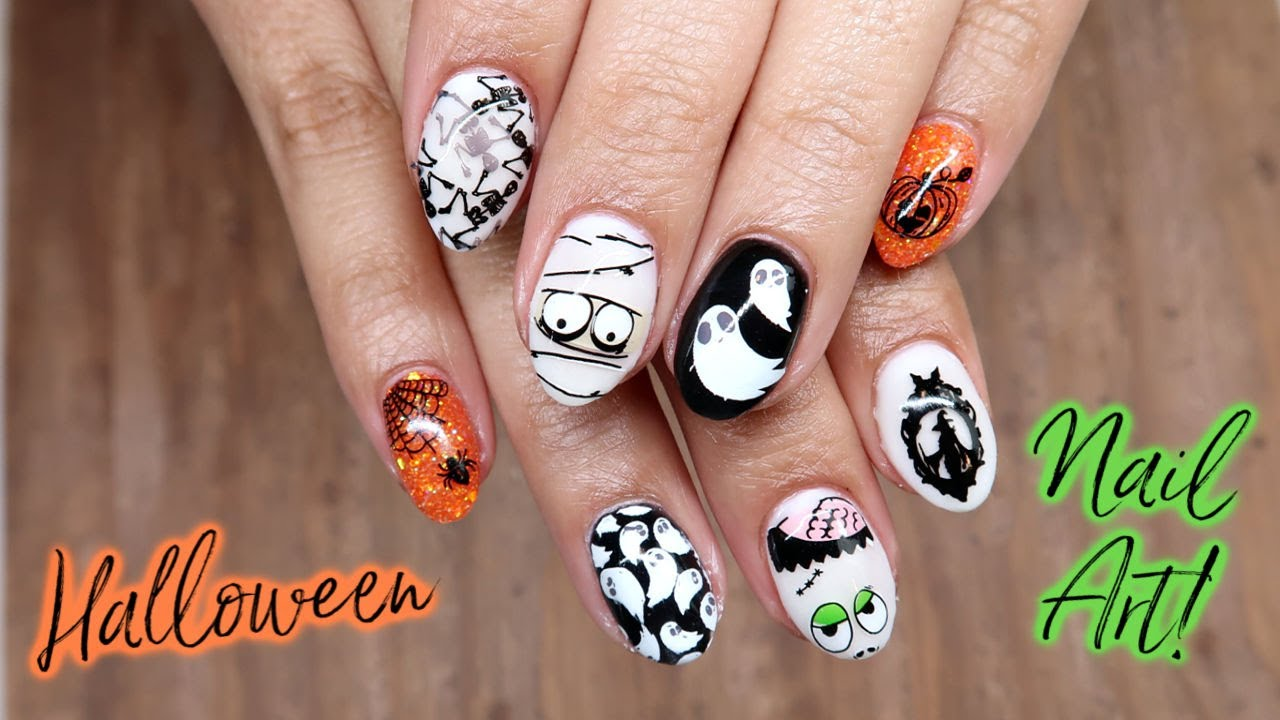 When Nail Stamping Goes Wrong... | Halloween Nail Art ...