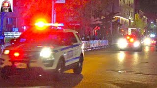 NYPD Police Cars Following President Trump's Secret Service Motorcade NYC