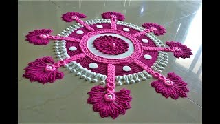 Beautiful and Creative Rangoli Designs Using Fork| Easy Rangoli by Shital Mahajan