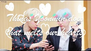 Things Yoonmin does that melts our hearts