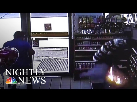 Video Shows E-Cigarette Explosion That Put Man in Hospital | NBC Nightly News