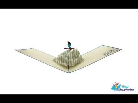 Pop Up Karte Shifahrer Skiurlaub Reisegutschein Youtube