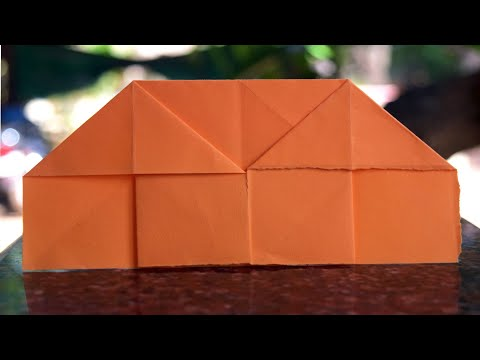 Making paper house - easy paper house making - paper origami
