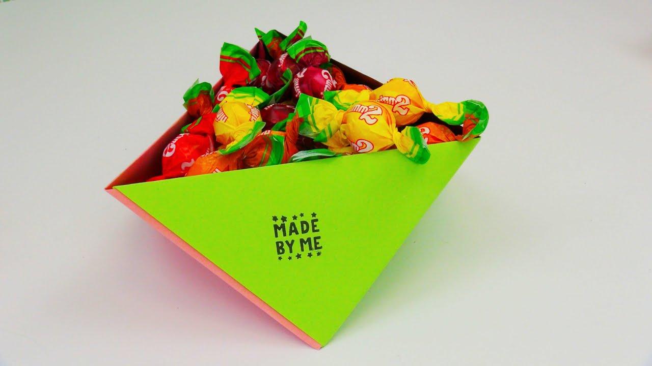 origami diy aufbewahrungsbox f r bonbons und co beh lter aus papier falten anleitung deutsch. Black Bedroom Furniture Sets. Home Design Ideas