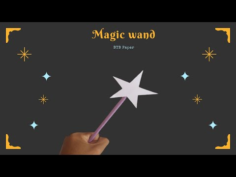 How to make a paper magic wand | Origami Easy and Beautiful Paper Magic Wand
