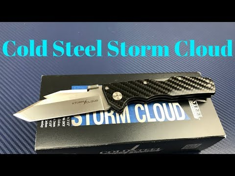 Cold Steel Storm Cloud CPM20CV Tri-Ad Lock Knife G-10/CF  This Storm Cloud has a silver lining !!