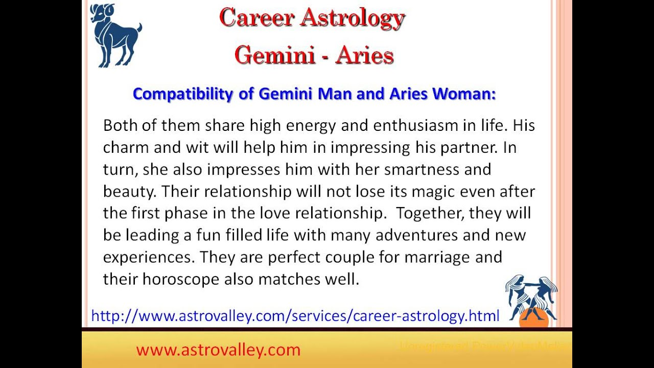 Aries Woman Gemini Man Love Relationship