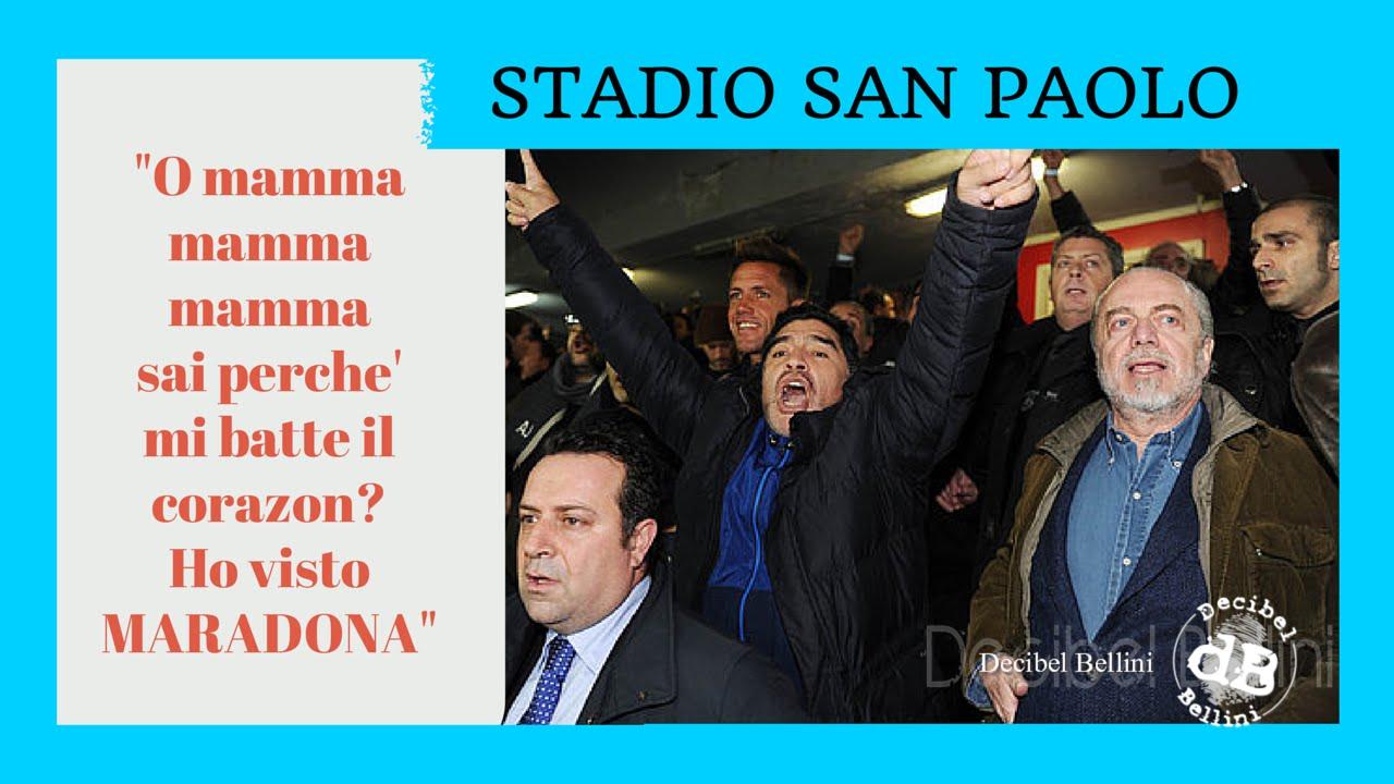 Tutto il San Paolo canta la canzone di Maradona/Todo el ...