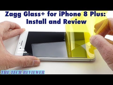 Zagg Glass+ for iPhone 8 Plus: Install and Review!