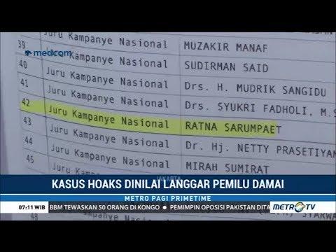 Tim Kampanye Jokowi Lapor Bawaslu soal Hoaks Ratna Sarumpaet