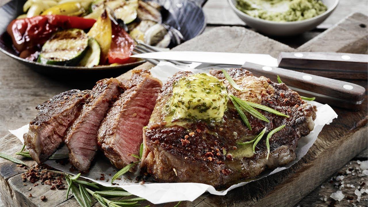 Rezept Von Alfons Schuhbeck Steak Mit Grillgemüse Youtube