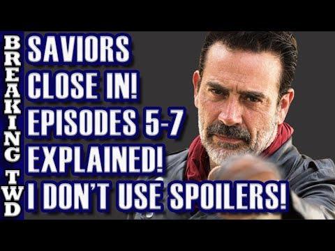 Saviors Close In! Episodes 5-7 Structure EXPLAINED | Scavengers, Negan Return Walking Dead Season 8