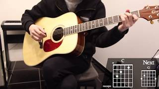 Eyes Nose Lips (눈코입) - Taeyang (태양) Guitar Cover for Beginner Playing by [Musicdrawing]